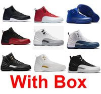 Wholesale French Army - Wholesale Cheap Retro 12 Wool XII Basketball Shoes OVO white Flu Game Wolf Grey Gym Taxi Gamma French Blue Suede Sneaker With Box