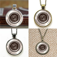 Wholesale antique cameras for sale - 10pcs Antique Camera junior Glass Photo Necklace keyring bookmark cufflink earring bracelet