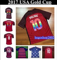 Wholesale 2017 Gold Cup USA soccer jersey third red football shirt PULISIC ZARDES DEMPSEY ALTIDORE USA Camiseta DEMPSEY ACOSTA maillot