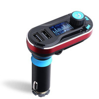 Wholesale car cigarette lighter usb mp3 player for sale - Bluetooth MP3 Player Handsfree Car Kit AUX Hands Free FM Transmitter with Dual USB MP3 SD LCD Car Charger Cigarette Lighter