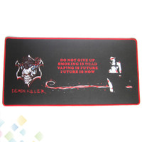 Wholesale Cool Electronics Gifts - Newest Demon Killer Bar Mat Rectangle Electronic Cigarette Bar Pad 60*30*0.3CM Cool Design with Gift Box Natural Rubber DHL Free