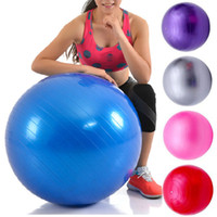 Wholesale stability exercises online - Exercise Ball Anti Burst Yoga Ball Balance Ball for Pilates Yoga Stability Training and Physical Therapy cm cm Size Fitness Balls