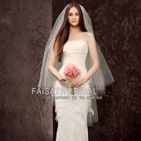 Wholesale Wedding Veils For Muslim Brides - Two Layers Bridal Veils Wedding Accessories Free Shipping Bridal Hair Veils High Quality Cheap Wedding Bridal Veil Long Lace Veils for Bride