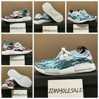 Wholesale Sneakersnstuff NMD Datamosh Pack Collection R1 Primeknit BB6364 BB6365 NMD R1 PK Tri Color Pack Men Womens Shoes