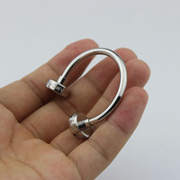 Wholesale Luxury stainless steel line design keychain hot sale keyring for men