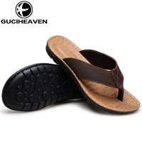 Wholesale Guciheaven Men Shoes - 2017 fashion and classic mens flip flops slippers mens summer slippers Guciheaven loafer shoes beach slippers SIZE 39-44 drop shipping