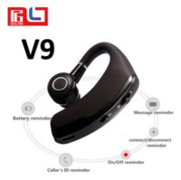 Wholesale earhook for bluetooth - V9 Bluetooth Headset For Phone call Handfree Earhook Bluetooth HeadPhone for Iphone X Samsung S7 S8 Note 8 with Retail Box
