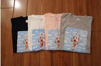 Wholesale Rabbit Tee Shirt - new tide men t shirt fashion 2017 summer 4 style SUPREM rabbit print Tee T-shirt men cotton short-sleeved t-shirt women tee shirt homme