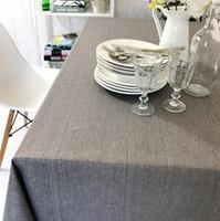 Wholesale Waterproof Restaurant Tablecloths - Manufacturers wholesale modern simple linseed color tablecloth, solid color anti-hot waterproof restaurant tablecloth,5 color, free shipping