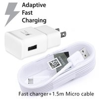 Wholesale Bags For Cables - OEM Quality US Adaptive Fast Rapid Charger With 1.5m Micro Cable For Samsung Note 4 5 S5 S6 S7 Edge OPP Bag