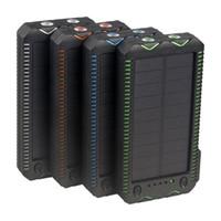 chargeur de batterie pour téléphone intelligent achat en gros de-Grande Capacité 600000mAh SOLAIRE Étanche Banque Chargeur Batterie Externe SAMSUNG Iphone Smart Phone