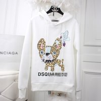 Wholesale Women Carton - 2017 Autumn and winter pink hoodies for women fleeve hoodies printed Carton and Letter Different women's casual sweatshirt hoody sudaderas