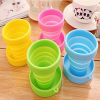 Wholesale Retractable Portable Cup - Portable Silicone Folding Water Cup Retractable Folding Water Bottle Outdoor Travel Telescopic Collapsible Soft Drinkware wa4024