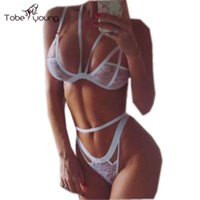 Wholesale Womens Sexy Lace See Through Wireless Unlined Bra Set Brassiere Crop Caged Bralette Nightwear Women Lingerie Babydoll Underwear