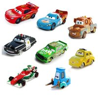 Wholesale Diecast Toy 64 - Disney Pixar Cars 16 Styles Lightning McQueen Mater 1:55 Diecast Metal Alloy Toys Birthday Christmas Gift For Kids Cars Toys
