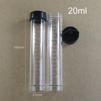Wholesale Plastic Pp Cap - 20ml Clear Pastic Test Tube bottle With cap, 21mm*106mm PP Jewelry Nail Art Beads Storage Container - 50pcs lot