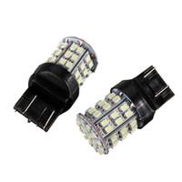 luzes traseiras conduzidas para carros venda por atacado-FEELDO 2 PCS Branco 12 V T20 7443 64SMD 1206LED Car Auto Turno / Freio Cauda Sinal LED Lâmpada # 1590