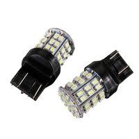 FEELDO 2PCS White 12V T20 7443 64SMD 1206LED Car Auto Turn Brake Signal Tail LED Light Bulb #1590