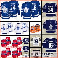 Wholesale Hockey Free - 2018 New Toronto Maple Leafs Hockey Jerseys Men's #16 Mitch Marner 34 Auston Matthews stitched Jersey Free Shipping
