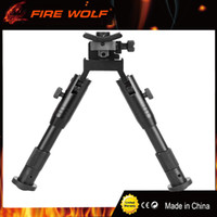 Wholesale MINI USA quot Aluminum Black Bipod Atlas Adjustable Swivel Stud Precision Bipod Mount For Rifle Hunting Mount