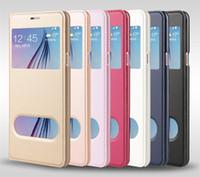 Wholesale Original View Cover - For iPhone 7 6 6S Plus 5S SE 5 Case PU Leather Window View Original Phone Back Cover for iPhone7 iphone6S Plus