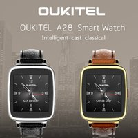 Wholesale Golden Hearts - Oukitel A28 Smart Watch V4.0 Smartwatch MTK2502A 1.54inch Leather Watchband For Android IOS Bluetooth Watch