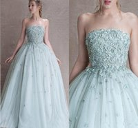2018 Modest Princess Sage Quinceanera Abiti Appliques Tulle Corsetto Lace Up Prom Dresses Sweet 16 Abiti
