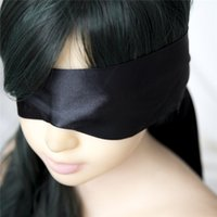 Wholesale Blindfold Party Sex - Black Satin ribbon Blindfold Sexy Eye Mask Patch Bondage Masque Mask Sex Aid Party Fun Flirt Sex Toys For Woman Men Couples