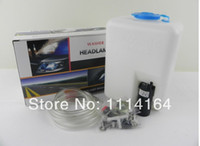 Wholesale Cleaning Headlights - Wholesale- Stock No profit promotion UniversalCAR HEADLIGHT WASHER HEADLAMP CLEANING SYSTEM, TO CLEAN FRONT COVER OF YOUR HEADLAMP HID DRL