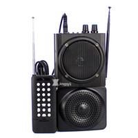 jagd mp3 kontrolle großhandel-48W 500m drahtlose Fernsteuerungsfalle Digital-Jagd-Vogel-Anrufer-Doppelminilautsprecher USB-MP3-Player-Jagd-Tauben-Lockvogel-Enten-Anruf-Gerät
