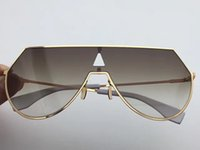 Wholesale Sunglasses Ultralight - NEW Fashion women brand designer sunglasses FF0193 rimless sunglasses ultralight style metal frame coating lens summer style goggle