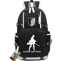Wholesale Titan Mikasa - Attack on Titan backpack Comics school bag Caricature daypack Mikasa Ackerman schoolbag Outdoor rucksack Sport day pack