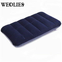 Wholesale mattress cool - Wholesale- Car Travel Air Cushion Rest Pillow Dark Blue Inflatable Bed Outdoor Camp Pillows 47 x 30 cm for Car Comfortable Mattress