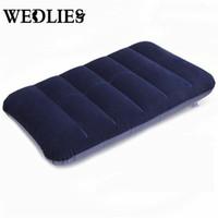 Wholesale Mattress Cool - Wholesale- Car Travel Air Cushion Rest Pillow Dark Blue Inflatable Bed Outdoor Camp Pillows 47 x 30 cm for Car Comfortable Mattress