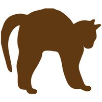 Wholesale Back Windshield - Wholesale 20pcs lot Home Decorations Automobile and Motorcycle with Products Vinyl Decal Car Glass window Stickers Jdm Cat Arching Its Back