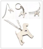 bracelet de renard achat en gros de-Fox Terrier chien collier charme coeur mignon animal de compagnie j'aime les chiens charme pendentif collier jonc porte-clés signet