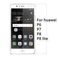Wholesale Huawei P6 Free Shipping - Wholesale-0.26mm 9H Premium Tempered Glass for huawei P6 P7 P8 P8 lite Screen Protector Film phone case Free Shipping