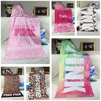 Wholesale Towels Bathrobe For Adult - Pink Beach Towels Bath Towel Sport Fitness Bathrobe Designer Wash Cloths Face Fashion for Women Kids Sweet