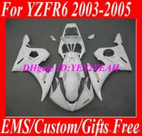 Wholesale Motorcycle Fairing Kit Yamaha Yzfr6 - Motorcycle Fairing kit for YAMAHA YZFR6 2003 2004 2005 YZF R6 YZF-R6 03-05 YZF600 R6 03 04 05 Complete white Fairings set+7 gifts