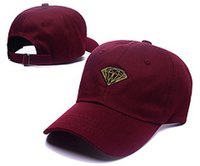 Wholesale Snapback Wine Red - 2017fashion hip hop Red wine Diamond cap 6 Panel Snapback Hat classic men women designer snapbacks caps cheap diamond floral hat gorras bone