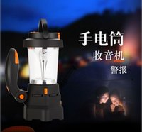 Wholesale Solar Radio Torch Light - Great Outdoor Lantern Camping Portable Solar Lamp tent light Rechargeable Emergency use with FM radio LED Flashlight Torch