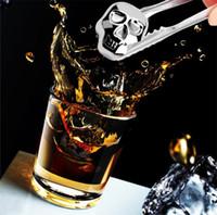 ingrosso pietre di whisky in acciaio inox-Personalità 304 In Acciaio Grande Teschio di Ghiaccio Cubetti di Whisky Pietre Cubetti di Ghiaccio Raffreddamento Rocce Raffreddamento Pietra Fredda 120 pz I101