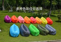 Wholesale Wholesale Terylene Fabric - Air Sleeping Bag Hangout Lounger Air Camping Sofa Portable Beach Nylon Fabric Sleep Bed with Pocket