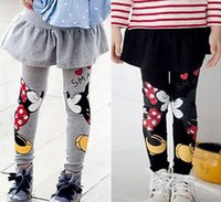 Wholesale Wholesale Leggings For Toddlers - 2017 New Baby Child Kids Girl Toddlers Girls Legging Skirt-Pants Children's Girls Skirt pant bootcut For 2-7Kid