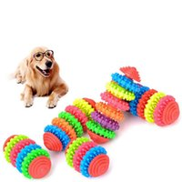 Wholesale Cats Dental Toy - Dog Toys Chews Durable Rubber Pet Dog Puppy Cat Dental Teething Healthy Teeth Gums Chew Toy