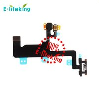 Wholesale Iphone Parts Mic - Power Switch ON OFF Button Flash Light Mic Flex Cable Ribbon For iPhone 6 4.7 for iPhone 6P 5.5 Replacement Part