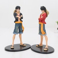 Anime Monkey D Luffy DXF Brotherhood Jeans Freak Vol.1 PVC Figura Collectible Modelo Toy 17cm