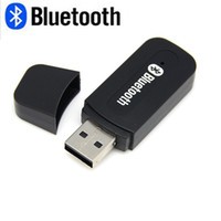 Wholesale Mini Usb Dongle Retail - Mini usb bluetooth Stereo Music receiver Adapter Wireless Car Audio 3.5mm Bluetooth Receiver Dongle for cellphone With Retail Package