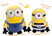 Wholesale Despicable Jorge - Plush Toys 30cm Despicable ME 3 Movie Jorge Stewart Dave Minions Huggable Embroidered Yellow Doll For 2017 With Tags Free Shipping
