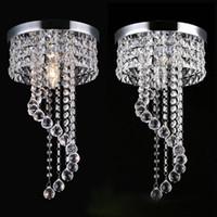 bündig montieren kronleuchter leuchten großhandel-20/25 cm Kristallleuchter kronleuchter lichter kronleuchter leuchten Unterputz Deckenleuchte Lampe für Gang Treppen Flur Veranda Lichter